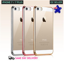 TPU Electroplating Clear Soft Gel Protective Cover iPhone 7 & 7 Plus