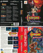 Castlevania Bloodlines Sega Megadrive Replacement Box Art Sleeves Insert Case