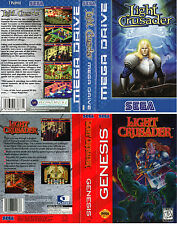 Light Crusader (EU PAL US) Sega Megadrive Replacement Box Art Case Insert Repro