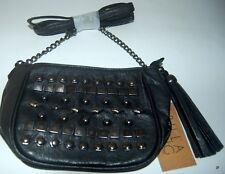 BILLABONG Handbag NEW Ladies HEY STUD Festival Purse BLACK Faux Leather Logo