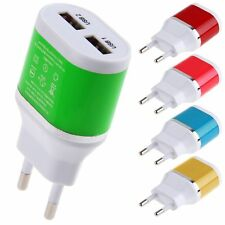 Wall Charger Dual USB 5V/2A Power Adapter EU Plug for Samsung HTC Cellphones