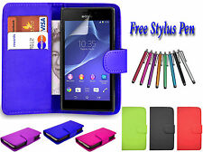 Magnetic Wallet Flip Pu Leather Case Cover Holder Stand For Sony Xperia Models