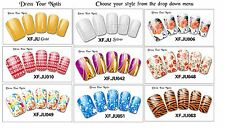 Nail Polish Stickers Full Cover Wraps/Foils -  Wedding Party Prom - Series #050