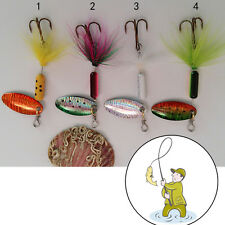 3.7g Metal Spoon Lures with Feather  Lure Spinner Jig Fake Bait for Fishing 7Z9