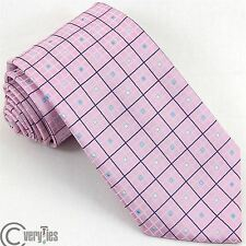 BIG KNOT Business Tie SILK & STYLE Pink Striped 100% Silk Made in Italy Fashion