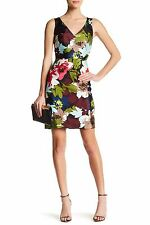 TRINA TURK Floral Print COSIMA Sheath Dress size 8 NWT ($348) Cotton Silk