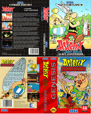 Asterix And The Great Rescue Sega Megadrive Replacement Box Art Case Insert