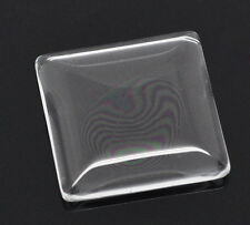 New Wholesale Lots HOT Jewelry Glass Dome Tile Seals Clear Square 25x25mm GW