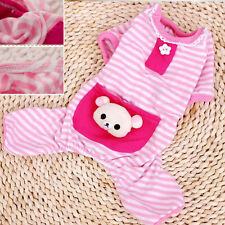 Small Pet Dog Stripes Pajamas Puppy Coat Clothes Apparel Cute Animal Three Color