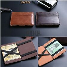 Magic PU Leather ID Card Credit Money Clip Purse Wallet for Men/ Women KECP