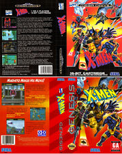 - X-MAN Mega Drive Genesis PAL & NTSC Replacement Box Art Case Insert Only