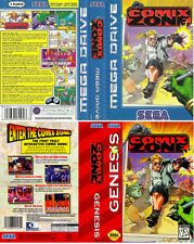 - Comix Zone Megadrive Genesis PAL & NTSC Replacement Box Art Case Insert Only