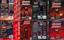 - Maximum Carnage Mega Drive Genesis Replacement Box Art Case Insert Cover Only