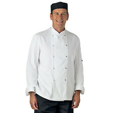 WHITE LONG SLEEVE CHEF JACKET (UNISEX)