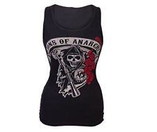 New SOA Sons of Anarchy Grim Reaper Rose Ribbed Tank Top Size S M L XL