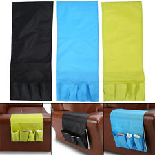 Foldable Couch Chair Arm Storage Bag Remote Control Glasses Caddy 4 Pockets HG