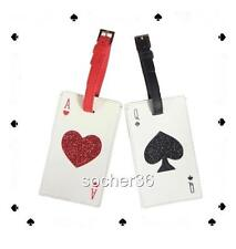 KATE SPADE LUGGAGE TAG RED ACE OF HEARTS OR BLACK QUEEN OF SPADES NWT $69