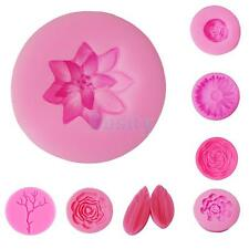3D Flower Plant Silicone Cake Soap Mold Fondant Mould Decorating Baking Tool