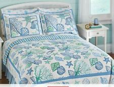 Beach Bedding Reversible Quilt Pillow Shams Rug Sheets King Queen Full Twin New