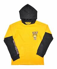 Boys Ecko Unlimited Yellow Hoodie Top ~ Ages 2-6
