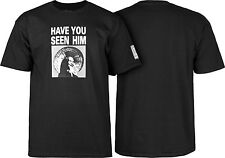 Powell Peralta Search Animal Chin Have You Seen Him T-Shirt BLACK Skateboard