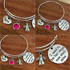 I used to be her angel now she's mine - In Memory of my mum nan nanny Bracelet