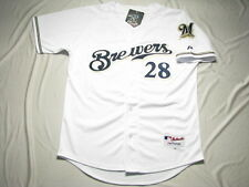 Milwaukee Brewers #28 Prince Fielder Jersey white