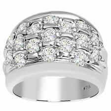 Orchid Jewelry Promise 925 Sterling Silver 2 5/9 Carat White Topaz Ring