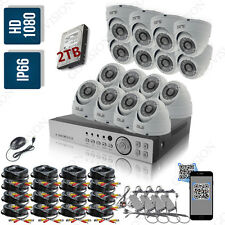 16CH Full HD 1080P 2.4MP Night Vision Outdoor Security CCTV Camera System Kit