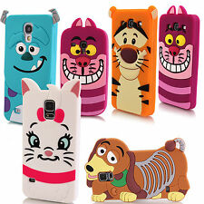 Cute 3D Cartoon Animal Silicone Rubber Case Cover For Samsung Mobile Phone