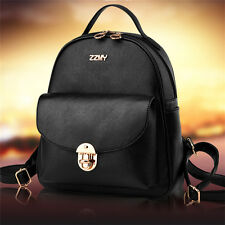 Vintage Lady PU Leather Travel Backpack Rucksack Handbag Shoulder Bag School Bag