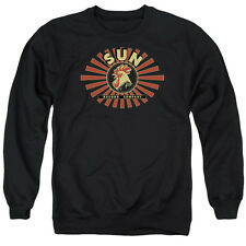 Sun Sun Ray Rooster Mens Crewneck Sweatshirt Black