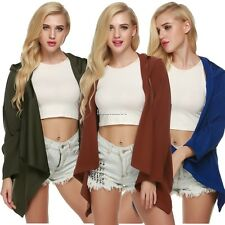 Women Batwing Long Sleeves Oversize Hooded Cardigan Coat Outerwear FT