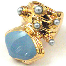 Arty Ring Red Blue Enamel Dots Gold Plate Knuckle Rings Celebrity Fashion