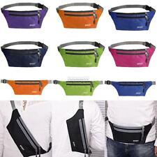 Waterproof Running Belt Bum Waist Pouch Fanny Pack Camping Sport Hiking Zip FT