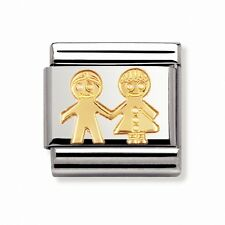 Nomination Italy Nominations Gold Girl and Boy Classic Charm Tool  Gift