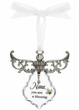Nana, You are a Blessing Clear Angel Gown Christmas Tree Ornament - By Ganz