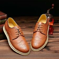 Mens Dress/Formal/Casual Leather Oxfords Wingtip Brogue Casual Office Shoes