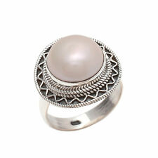 PEARL SOLID 925 STERLING SILVER FASHIONABLE RING CUSTOM SIZE 5,6,7,8,9,10