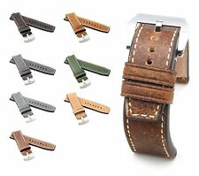 BOB XL Marino Vintage Calf Watch Band for Panerai, 24/24 mm, 7 colors, new!
