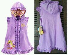Disney Rapunzel Tangled Hooded Towel Beach Cover Up Dress Swim Terry Purple NEW