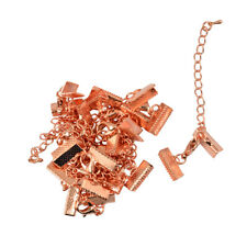 12 Sets Crimp Ends Lobster Clasp Extender Chain Connectors Findings Rose Gold