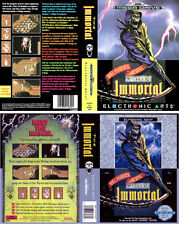 Immortal Sega Mega Drive NTSC PAL Replacement Box Art Case Insert Cover Scan