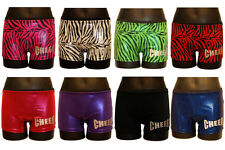 Spanks Hipsters Spankies Booty shorts hot shorts Zebra & Holographic Cheer Print