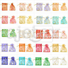 25/50/100/200/500pcs Sheer Organza Bags 7x9cm Wedding Gift Jewelry Pouches FB
