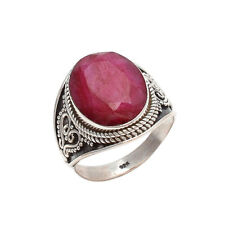 RUBY CHECKER SOLID 925 STERLING SILVER FABULOUS RING CUSTOM SIZE 5,6,7,8,9,10
