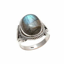 LABRADORITE SOLID 925 STERLING SILVER NICE RING NEW CUSTOM SIZE 5,6,7,8,9,10