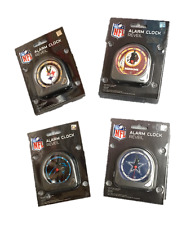 NFL Alarm Travel Clock- Panthers, Cowboys, Steelers, Redskins