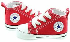 Converse Chuck Taylor Red White Crib Baby Boy Girl New Born Shoes 1- 2 -3 - 4