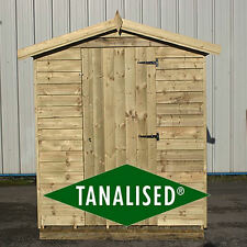 Wooden Overlap Garden Shed Tanalised Apex Roof Sheds Budget Wood Storage H Duty